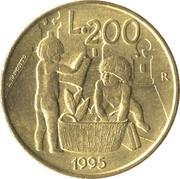 200 lires (enfants jouant) -  revers
