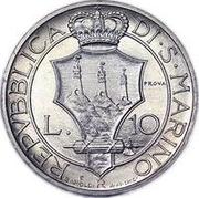 10 Lire (Prova) – revers