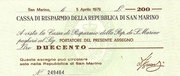 200 Lire (Italian coin shortage issue) – avers