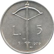 5 lires – revers