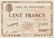 100 francs - Bon municipal de la ville de Saint-Omer [62] – avers