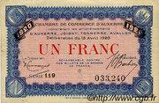 1 franc - Chambre de Commerce d'Auxerre [89] – avers