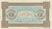 50 centimes - Chambre de Commerce d'Auxerre [89] -  revers