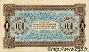 50 centimes - Chambre de Commerce d'Auxerre [89] – revers