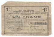 1 franc - Régions de Saint-Quentin & de Guise [02] – avers