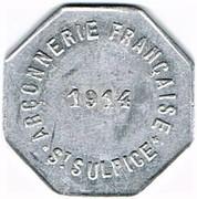 10 centimes - Arçonnerie Française 1914 - St Sulpice (81) – avers