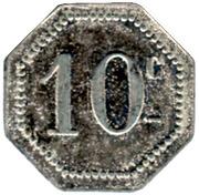 10 Centimes - Arçonnerie Française - St Sulpice [81] – revers