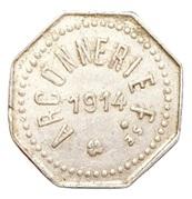 5 centimes - Arçonnerie Française 1914 - St Sulpice [81] – avers