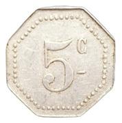 5 centimes - Arçonnerie Française 1914 - St Sulpice [81] – revers