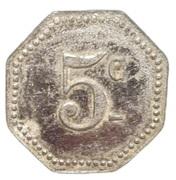 5 Centimes - Arçonnerie Française - St Sulpice [81] – revers