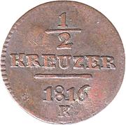 ½ kreuzer -  revers