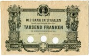 1000 francs (Bank in St. Gallen) -  avers