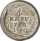 4 kreuzer - Beda Angehrn – revers