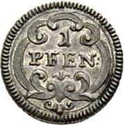 1 pfennig - Beda Angehrn – revers