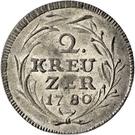 2 kreuzer - Beda Angehrn – revers