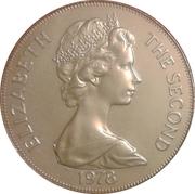1 Crown - Elizabeth II (Jubilé d'argent) – avers