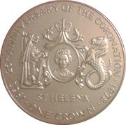 1 Crown - Elizabeth II (Jubilé d'argent) – revers