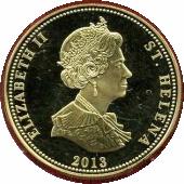 25 Pence - Elizabeth II (Bataille d'Iéna) – avers