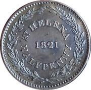 ½ Penny (Compagnie britannique des Indes orientales) – revers
