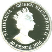 20 Pence - Elizabeth II / Golden Guinea – avers