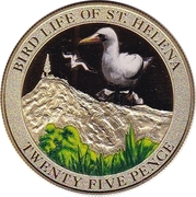25 Pence - Bird Life - Albatross – revers