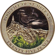 25 Pence - Bird Life - Bulwer's Petrel – revers