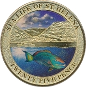 25 Pence - Elizabeth II (Sea Life) – revers