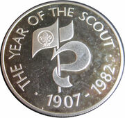25 Pence - Elizabeth II (Year of Scout) – revers