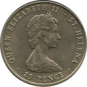 25 Pence - Elizabeth II (Mariage de Charles et Diana) – avers
