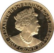 ½ Crown - Elizabeth II 'Napoleon crosses the Alps' – avers