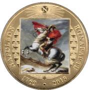 ½ Crown - Elizabeth II 'Napoleon crosses the Alps' – revers