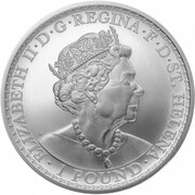 1 Pound - Elizabeth II (Una and The Lion) – avers