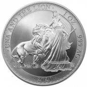1 Pound - Elizabeth II (Una and The Lion) – revers