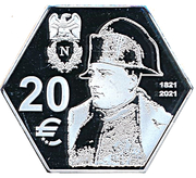 20 Euro (200th Anniversary of the death of Napoleon) – revers