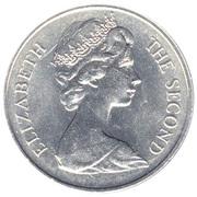 25 Pence - Elizabeth II (Tricentenaire de Saint-Hélène) – avers