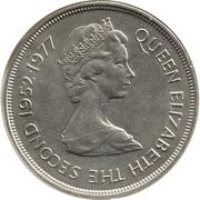 25 Pence - Elizabeth II (Jubilé d'argent) – avers