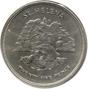 25 Pence - Elizabeth II (Jubilé d'argent) – revers