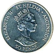50 Pence - Elizabeth II (Débarquement en Normandie) – avers