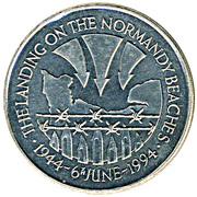 50 Pence - Elizabeth II (Débarquement en Normandie) – revers