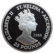 25 Pounds - Elizabeth II (Mort de Napoléon) – avers