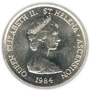 5 pence Elizabeth II (2e effigie) – avers