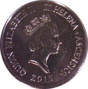 5 pence - Elizabeth II (3eme effigie, type petit, magnétique) – avers