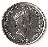 5 pence Elizabeth II (3e effigie, tortue) – avers