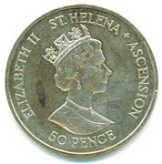 50 Pence - Elizabeth II (Mariage du prince Andrew et de Sarah Ferguson) – avers