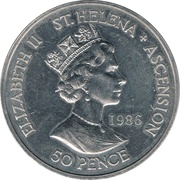 50 Pence - Elizabeth II (Mort de Napoléon) – avers
