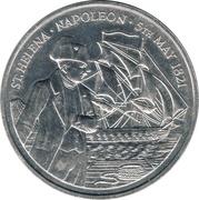 50 Pence - Elizabeth II (Mort de Napoléon) – revers