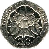 20 pence Elizabeth II (3e effigie) – revers