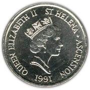 10 pence Elizabeth II (3e effigie, fleurs) – avers