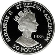 50 Pounds - Elizabeth II (Mort de Napoléon) – avers