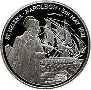 50 Pounds - Elizabeth II (Mort de Napoléon) – revers